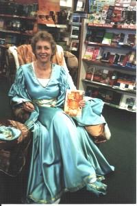 Virginia at a book signing