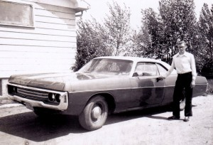 """Dan with our """"new"""" car"""
