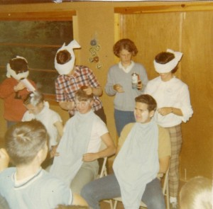 A skit the counselors put on. Dan is on the far left.