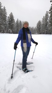 Last January, first time out on snowshoes! I was watching my footsteps carefully that day!