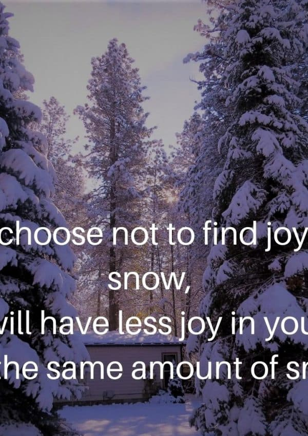 How to Find Joy in the Snow — Three Strategies that Will Help You Stay Sane